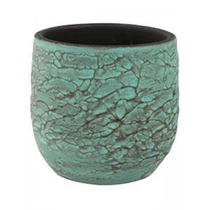 Evi antiq brons bloempot binnen 15x13 cm
