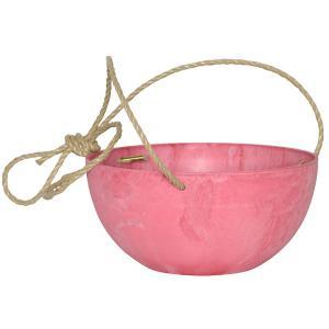 Fiona hangende bloempot roze M 25 cm