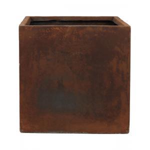 Ter Steege Static Cube vierkante plantenbak 43x43x43 cm roest