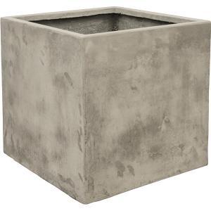 Ter Steege Static Cube vierkante plantenbak 54x54x54 cm grijs