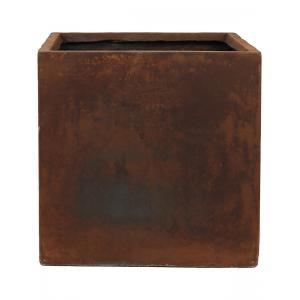 Ter Steege Static Cube vierkante plantenbak 54x54x54 cm roest