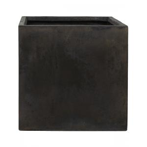 Ter Steege Static Cube vierkante plantenbak 54x54x54 cm zwart
