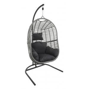 Hangstoel Pisa grijs met standaard