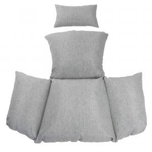Kussen voor 1-persoons hangstoel grijs