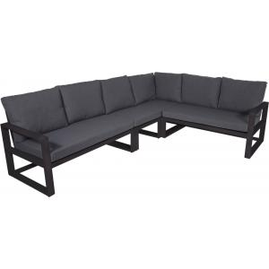Hoek loungebank tuin Pina Colada Negro