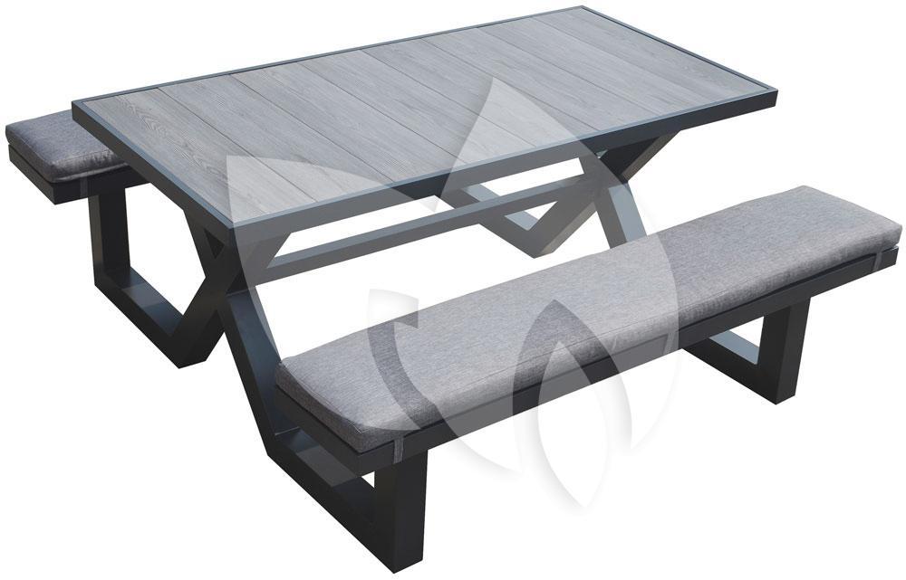 Picknick Tafel Aluminium.Tuinbankje Nl Picknicktafel Aluminium 160cm Antraciet Tuinexpress Nl