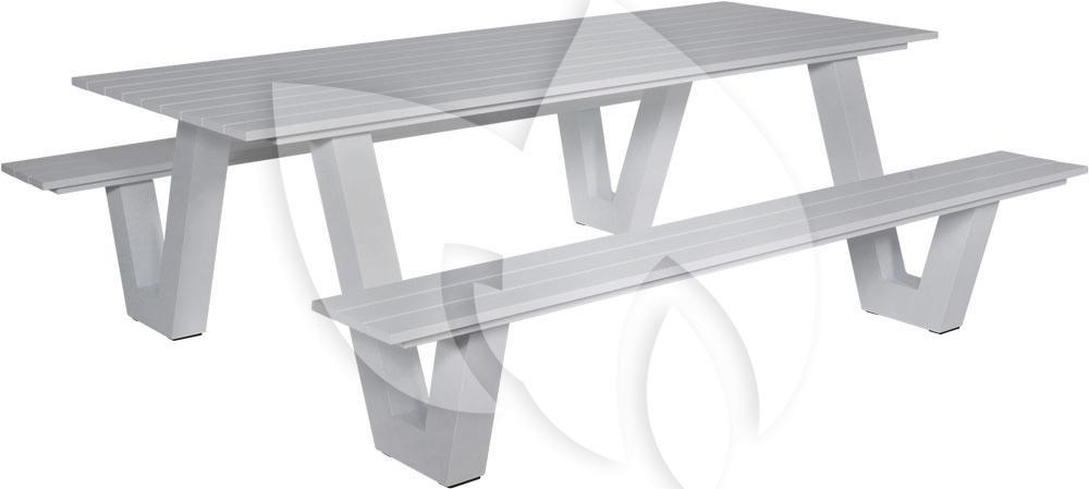 Picknick Tafel Aluminium.Tuinbankje Nl Picknicktafel Breeze Aluminium Grijs Tuinexpress Nl
