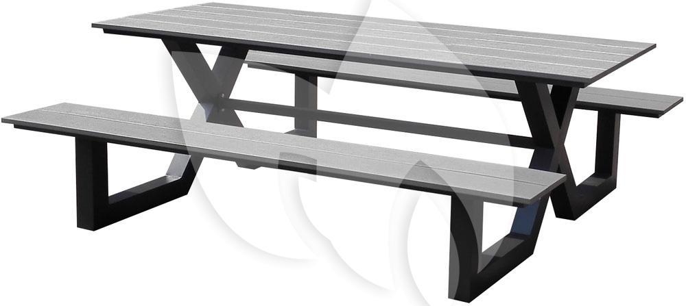 Picknick Tafel Aluminium.Tuinbankje Nl Picknicktafel Family Aluminium Grijs Tuinexpress Nl