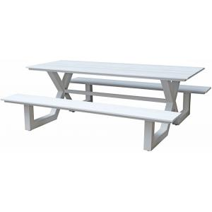 Picknicktafel Family aluminium wit