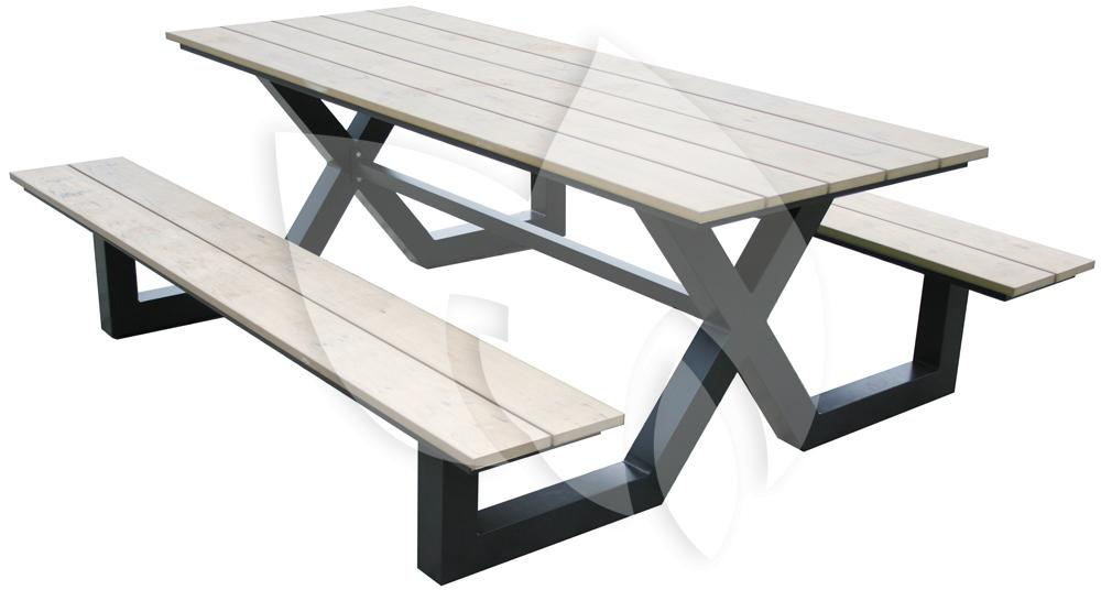 Picknick Tafel Aluminium.Tuinbankje Nl Picknicktafel Family Aluminium Zand Tuinexpress Nl