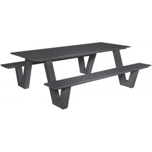 Picknicktafel Breeze aluminium antraciet
