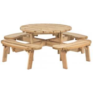 Picknicktafel rond ge�mpregneerd