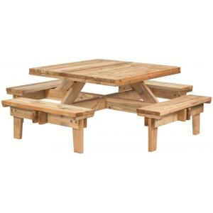 Picknicktafel vierkant ge�mpregneerd