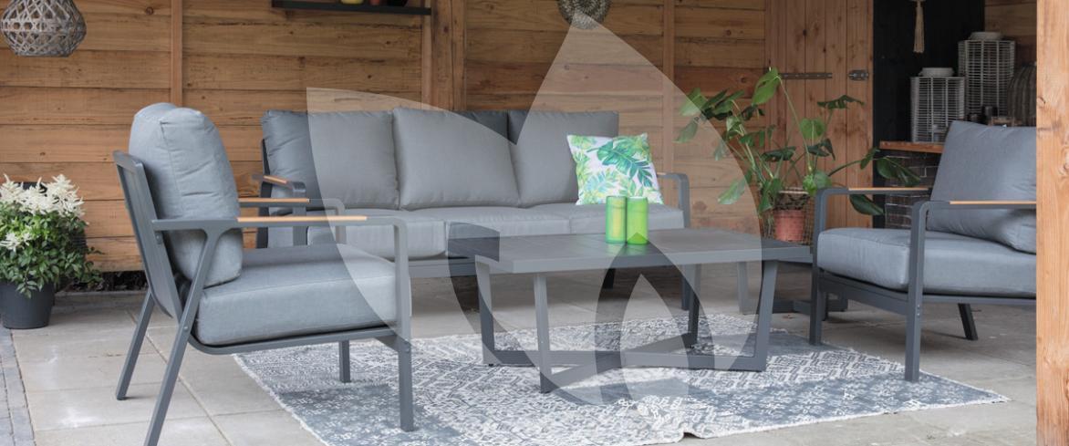 Design Lounge Tuin Bank.Mai Tai 3 Persoons Loungebank Aluminium Antraciet