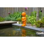 Spuitfiguur Boy 67 cm oranje