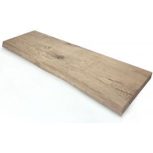 Oud eiken plank massief boomstam 60 x 30 cm