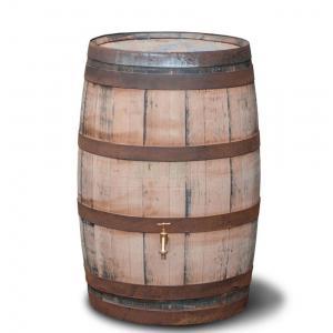 Houten regenton hergebruikt geschuurd 195 liter
